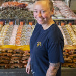 Wet fish shop counter manager Becky Mundy.
