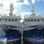 Ocean Harvest and Harvester alongside at Flekkefjord.