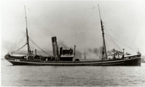 Surf Flower, pictured in the river Humber, was one of two new trawlers that Yorkshire Steam Fishing Co built around 1928 – the other was Sprayflower.