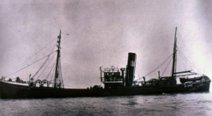 Cayton Wyke was one of the first cruiser-sterned trawlers in Hull, built in 1932 for the West Dock Steam Fishing Co.