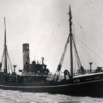 Waveflower, built in 1929 at Cochrane & Cooper's yard at Selby, pictured in the river Humber.