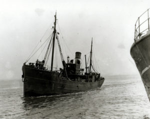 Skipper Oliver's eldest brother, George Oliver, was washed overboard and lost when he was mate of the Hull trawler Jade (pictured here), in September 1928.