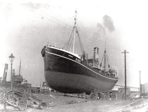 William Oliver skippered the Kopanes, pictured on the slip in Hull, or two trips in September and October 1933.