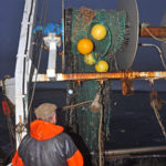 Brian Cox shooting a 72ft Rye Bay cover trawl off the starboard net drum…