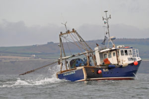 Single-handed skipper Jamie Cox's Challenge towing into the northwest towards Fraggle Rock.