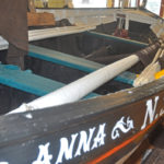 The traditional Mourne skiff Anna in the Mourne Maritime Centre at Kilkeel.