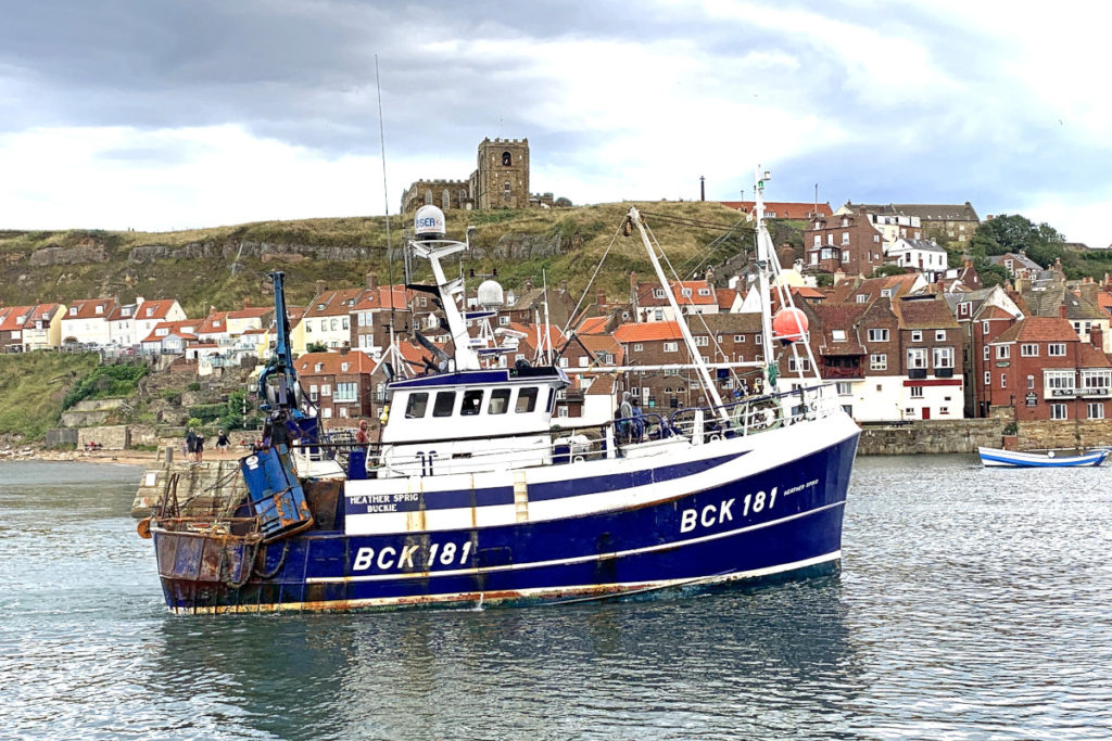 The Fraserburgh-based Heather Sprig arriving at Whitby. (Mick Bayes)