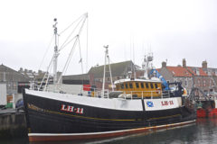 Rebecca: Prawn twin-rig trawling overnight from Eyemouth