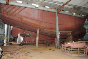 The hull of the 19m twin-rigger Loch Inchard II is almost complete…