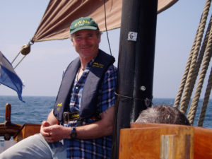 Swan skipper Andrew Halcrow off Fair Isle in 2005.