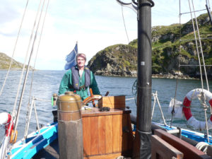 Steering Swan off St Kilda in 2005.