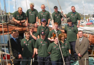 The Tall Ships crew and trainees in 2004.