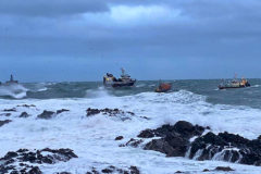 Fantastic seamanship rescues five crewmen and Opportunus IV