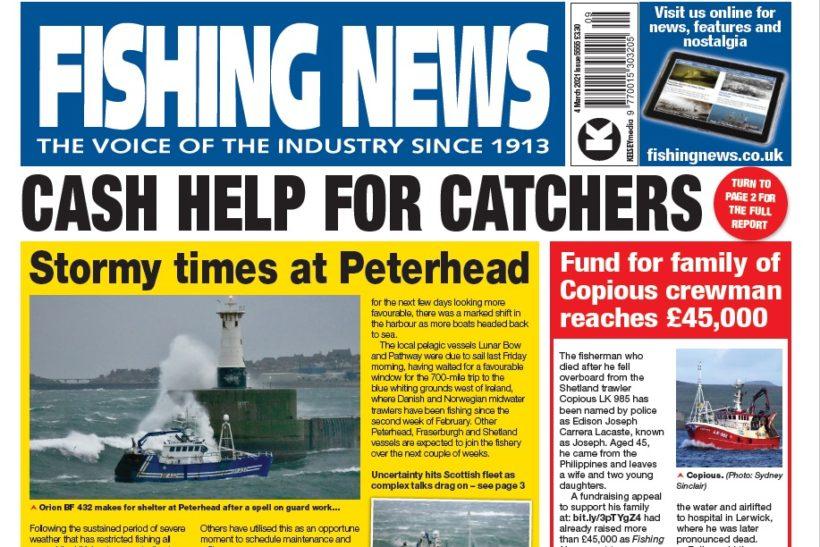 Cash help for catchers