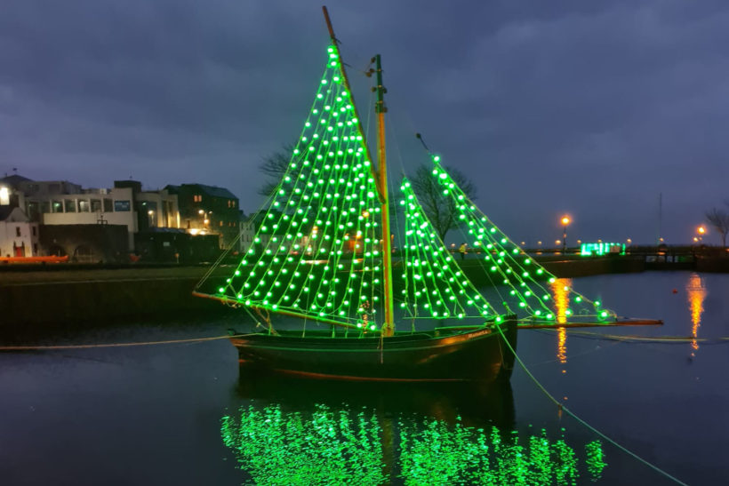 Recycled currach launched on St Patrick's Day