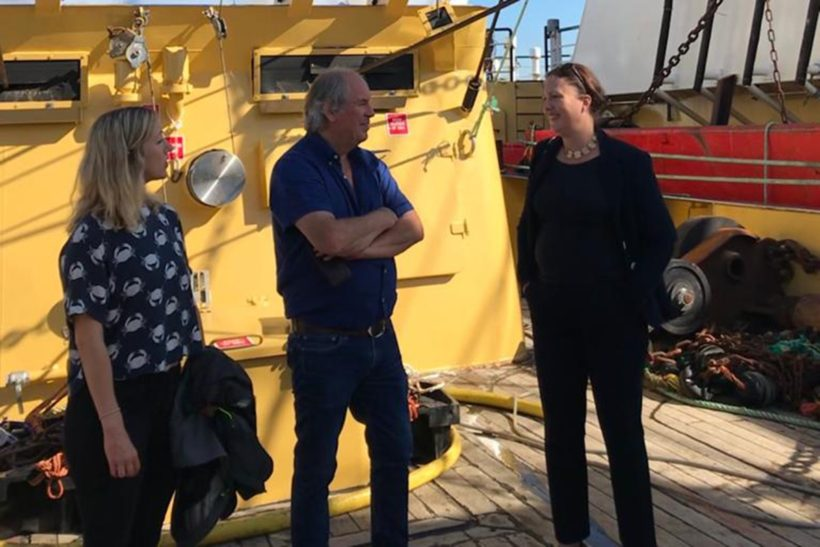 Fisheries minister makes 'fact-finding' visit to Brixham