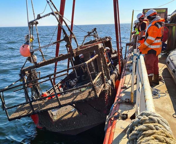 The Nicola Faith recovered from seabed