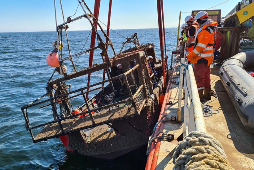 Nicola Faith recovered from seabed