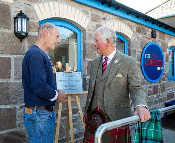 Prince of Wales visits Johnshaven family shellfish firm