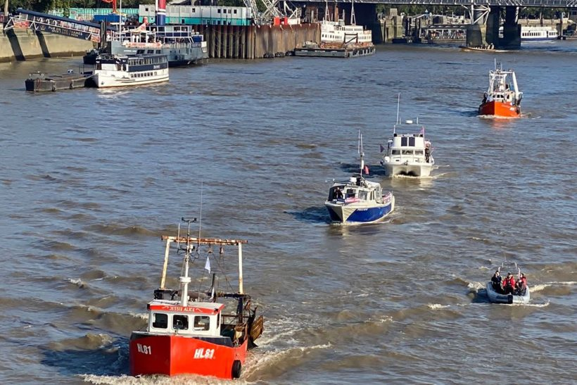 South East fishermen take protest to parliament